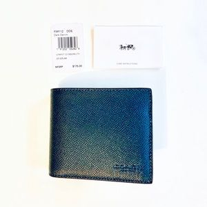 NEW Coach F59112 Comp ID Crossgrain Leather Wallet